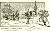 John Cabot landing on the Shores of Labrador