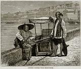 Chinese Porters with Sedan-Chair