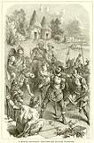 A Roman Centurion captured by British Warriors