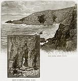 Seal Caves, Achill Island. Cliffs of Minaun, Achill Island.