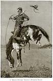 A 'Bronco-Buster' Riding a Buckin Horse