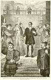 Wyatt, on his way to execution, declares that the Lady Elizabeth had no part nor lot in his insurrection