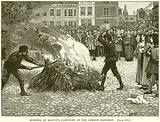 Burning of Blount's Pamphlet by the Common Hangman