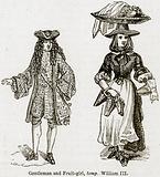 Gentleman and Fruit-Girl, temp. William III