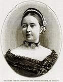 The Crown Princess, afterwards the Empress Frederick, of Germany