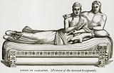 Coffin of Alabaster. (Features of the deceased Sculptured).