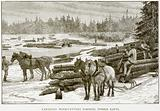 Canadian Wood-Cutters forming Timber Rafts
