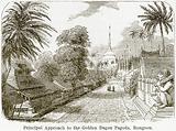 Principal Approach to the Golden Dagon Pagoda, Rangoon