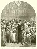 John Wycliffe appearing in St. Paul's Cathedral to answer the Charge of Heresy