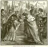 Edward receiving King John of France