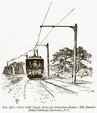 Poles with Single Arms for Suburban Roads. – The Ontario Beach Railway, Rochester, NY.