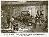Chain-Testing Machine at Messrs. Brown and Lenox's Works, Millwall