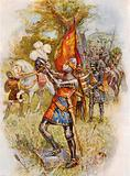 Edward, the Black Prince, at the battle of Crecy