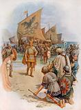 The landing of King Canute