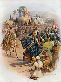 The meeting of Richard Coeur de Lion and Saladin
