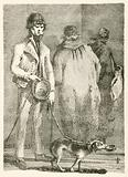 George Dyball, a blind beggar of considerable notoriety, and his dog Nelson
