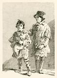 Joseph Thake and his son, who made rattle puzzles