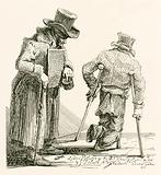 William Kinlock, a blind beggar, who lost his sight at Gibraltar