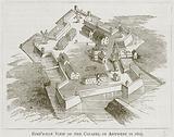 Bird's-Eye View of Citadel of Antwerp in 1603