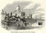 The Taj-Mahal, Agra, from the River Jamna