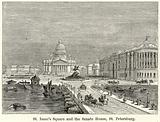 St Isaac's Square and the Senate House, St Petersburg