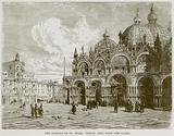 The Basilica of St Mark, Venice, seen from the Piazza
