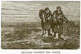Settlers crossing the Steppe