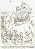 Large Ship and Boat of the Fifteenth Century. The Mainsail of the Ship has the Beauchamp Arms ….