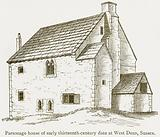 Parsonage House of Early Thirteenth-Century Date as West Dean, Sussex