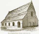 Hall of Oakham Castle, Rutland: Built about 1185