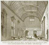 Interior of the Hall at Penshurst, Kent: Showing the Screen with Minstrels' Gallery over it …