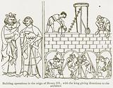 Building Operations in the Reign of Henry III, with the King giving Directions to the Architect