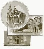 1. The East End. 2. The Abbey Gate. 3. The Galilee Door