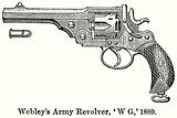 Webley's Army Revolver, 'W G,' 1889