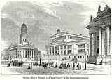 Berlin – Royal Theatre and New Church in the Gensdarmenmarkt