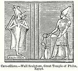 Cavo-Rilievo. – Wall Sculpture, Great Temple of Philae, Egypt.