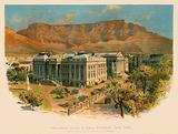 Parliament house & Table mountain, Cape Town