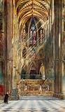 The scene of the Coronation: Westminster Abbey