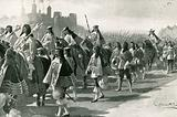 The last procession from the Tower: Charles II and his retinue on Tower Hill, April 22, 1661
