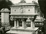 Tomb of Mrs Elizabeth Browning in the cemetery at Florence