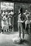 Mungo Park being abused by a hostile mob of Moors