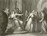 The Empress Matilda refusing to release King Stephen