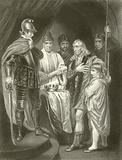Balliol surrendering his crown to Edward I