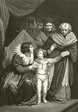 Elizabeth Woodville surrendering her son