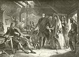 The first meeting of Prince Charles with Flora Macdonald