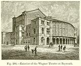 Exterior of the Wagner Theatre at Bayreuth