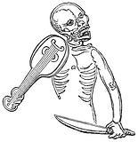 Skeleton with a Violin