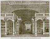 Interior of the Bodleian Library, to which Selden Bequeathed his Books and Ms