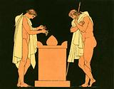 Orestes at the tomb of his father