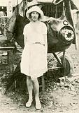 Amy Johnson after the mishap at Insein
